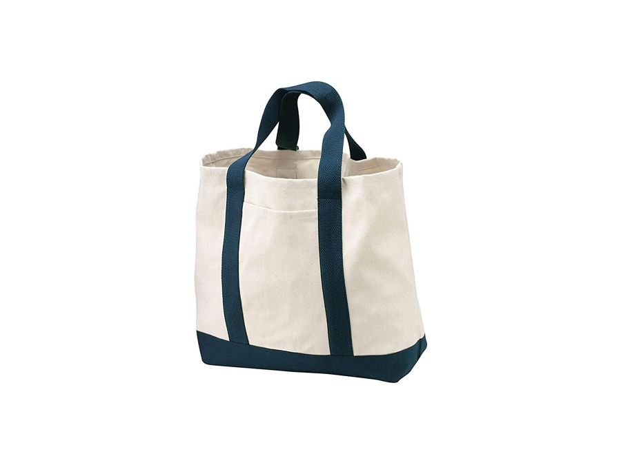 Port & Company Canvas Bottom Shopping Tote