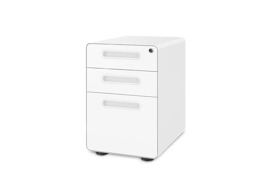 DEVAISE 3-Drawer Locking Mobile File Cabinet