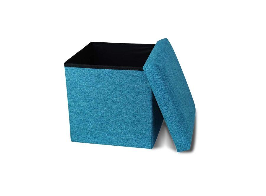 CoCo Living Storage Ottoman Cube Blue