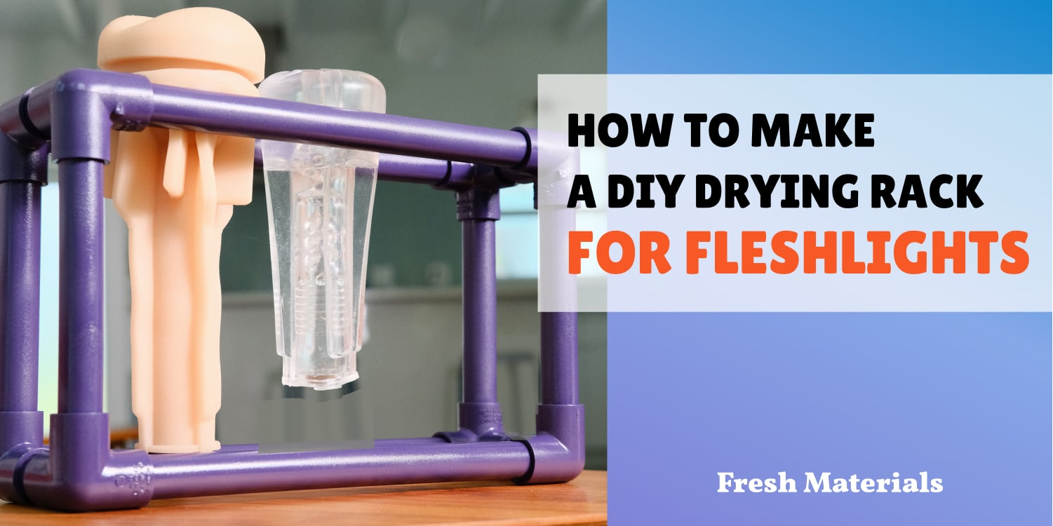 How to make a DIY Fleshlight drying rack from PVC pipe