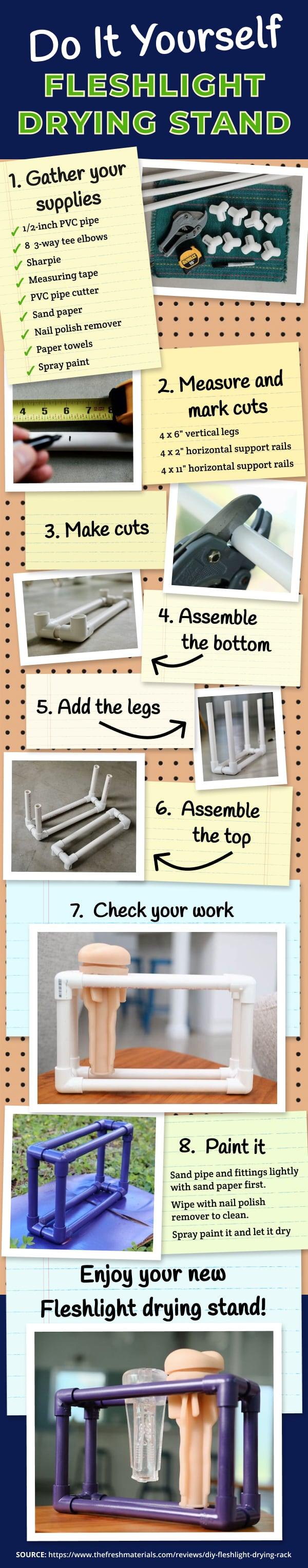 DIY Fleshlight Drying Rack Infographic