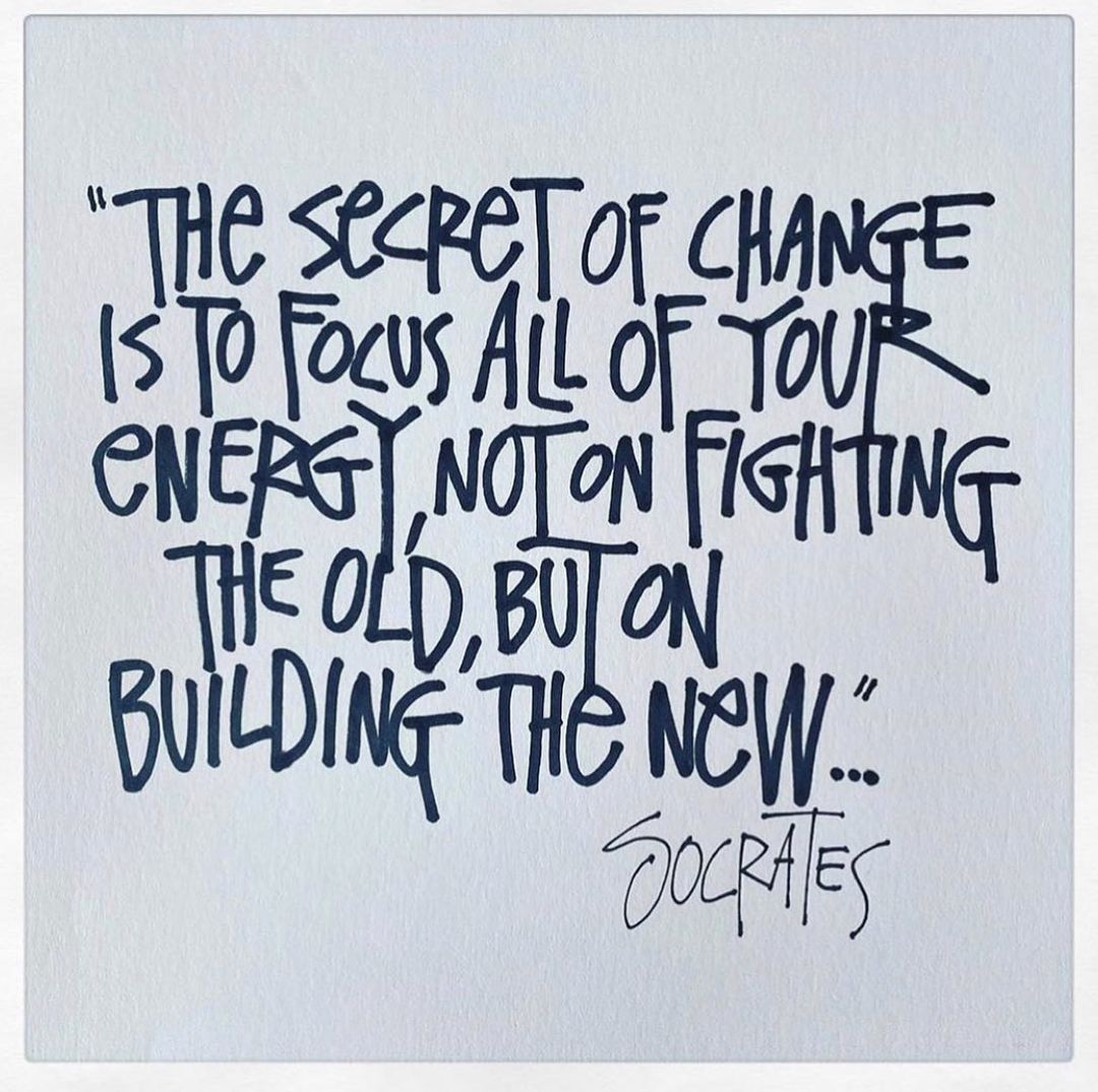 Philosophical Socrates Quote hand-written by Shawn Stussy.