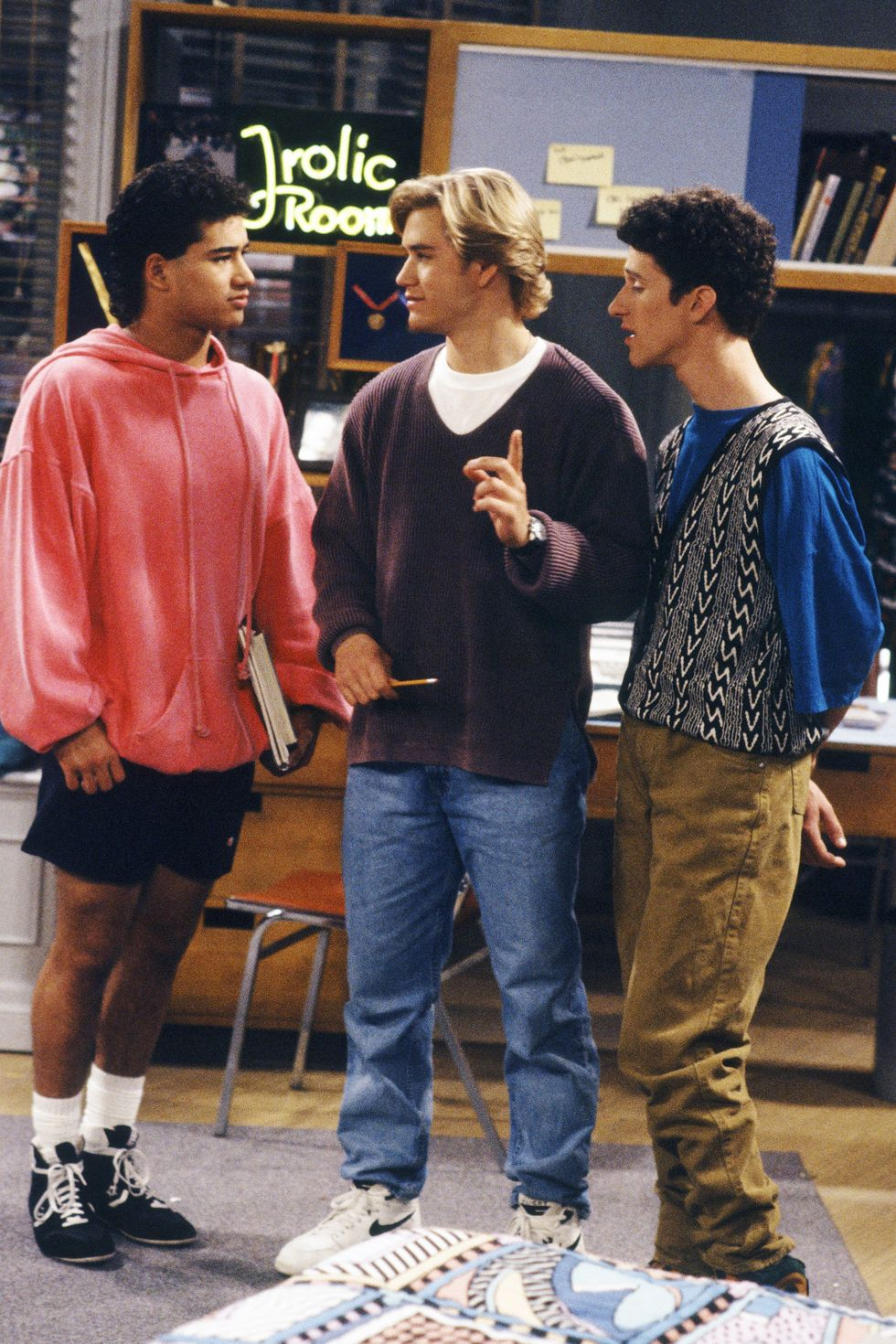 Saved By the Bell Group Guys Styling. Esquire Magazine