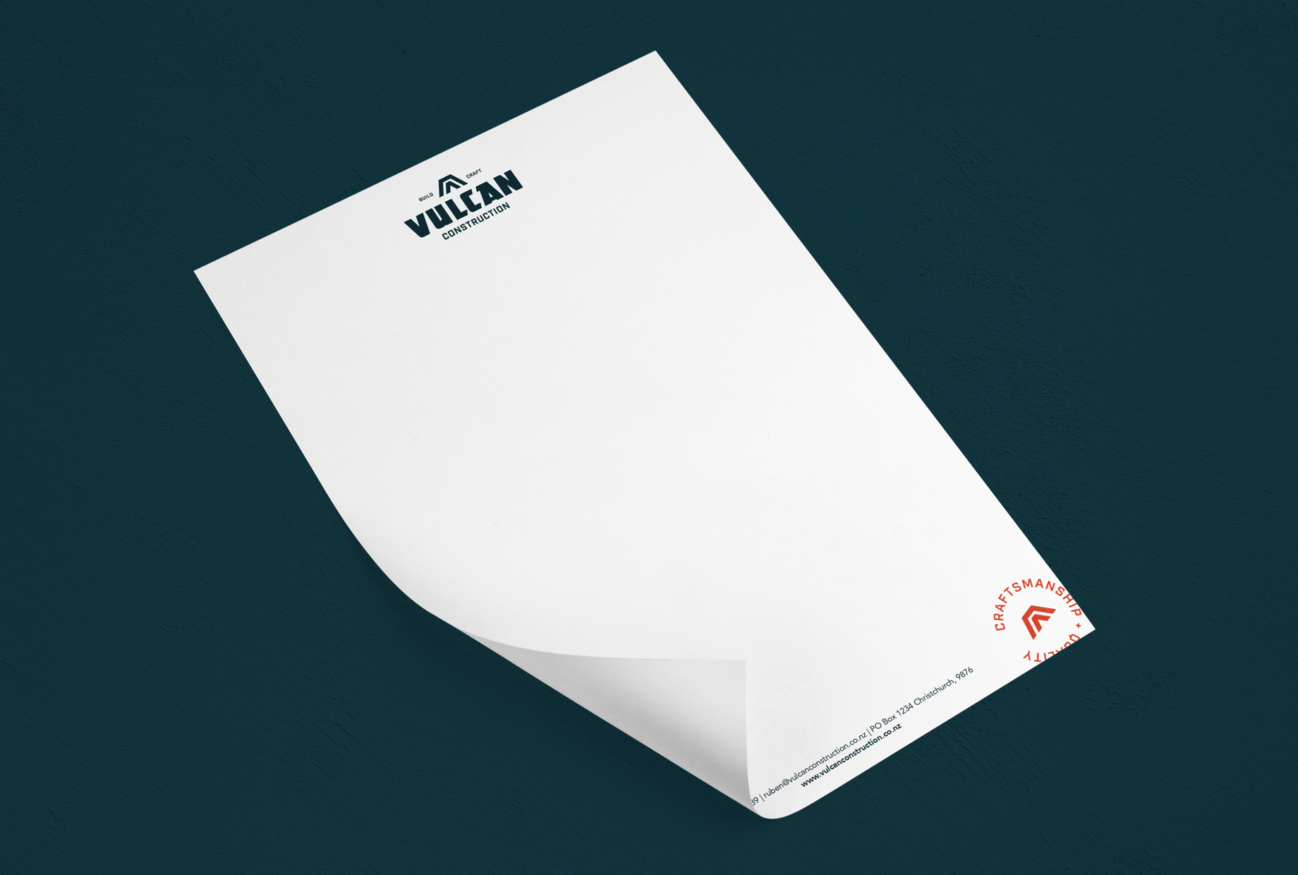 Letterhead for a building company