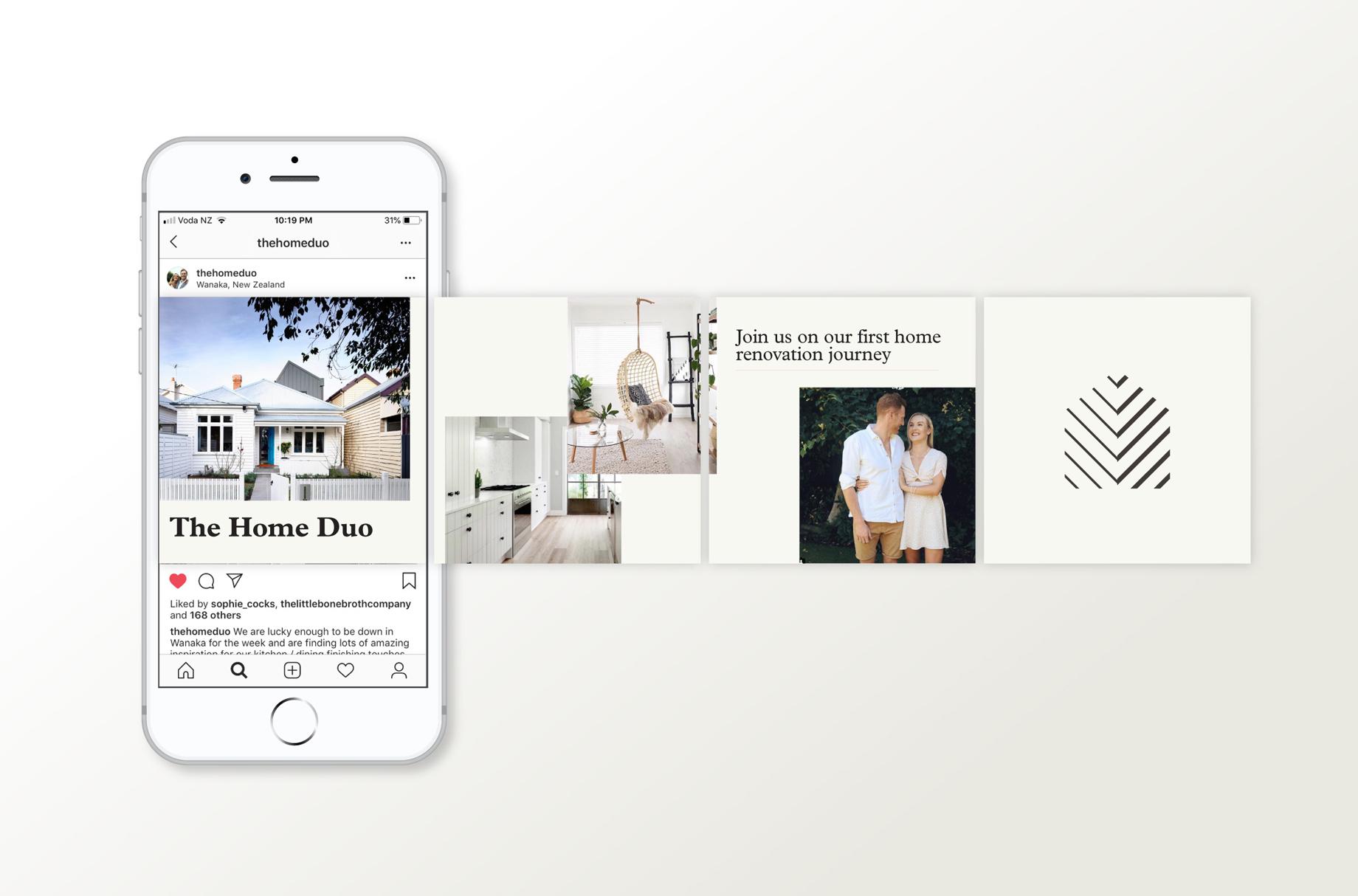 Instagram mockup for home renovation blog