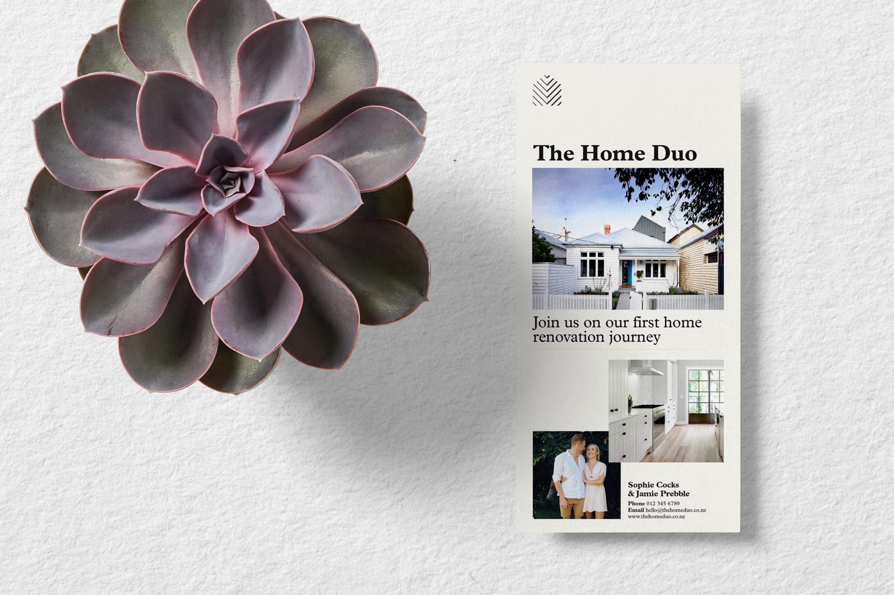 Information flyer for home renovation blog