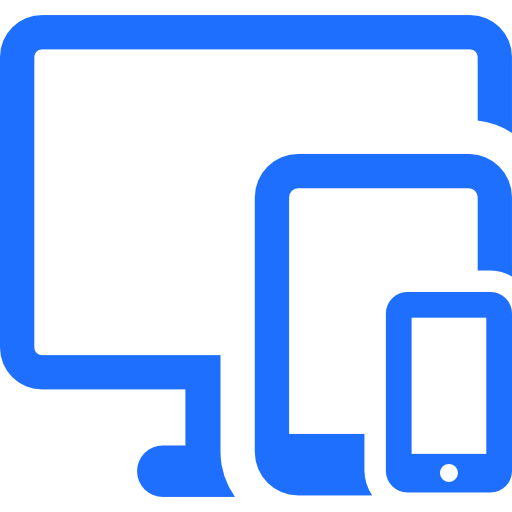 Blue icon computer, tablet and cellphone image