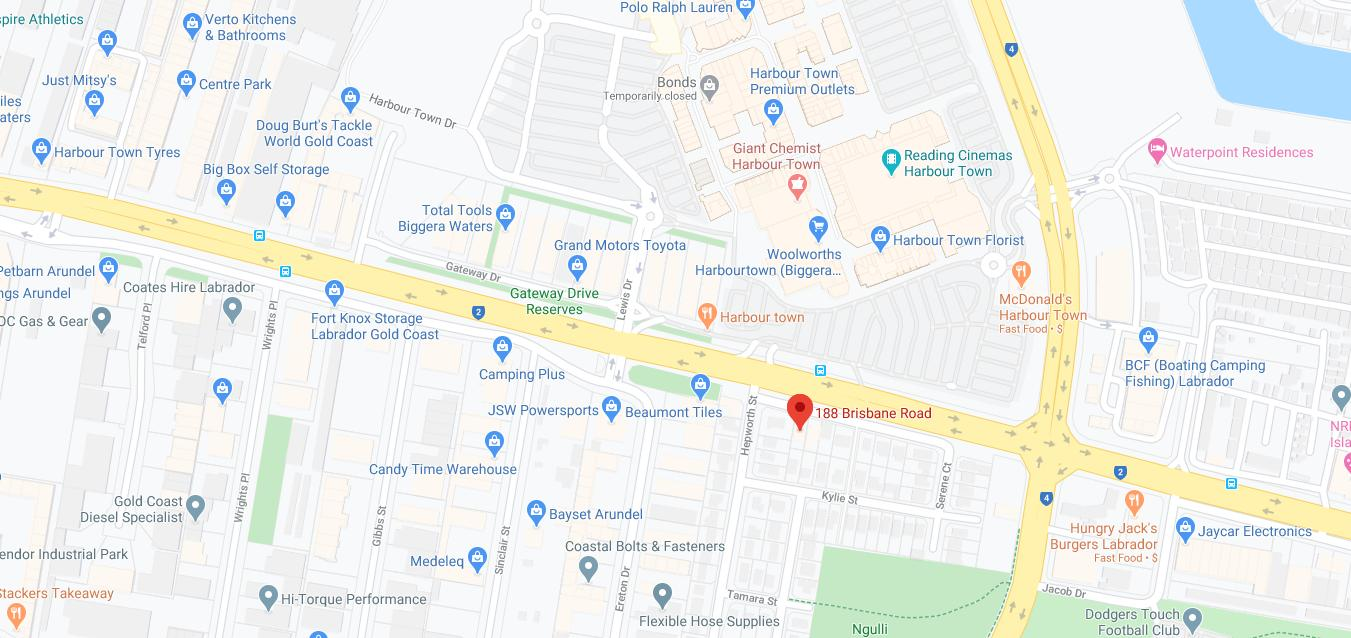 Location of 188 Medical on Google Maps