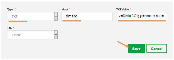 Added Godaddy DMARC standard