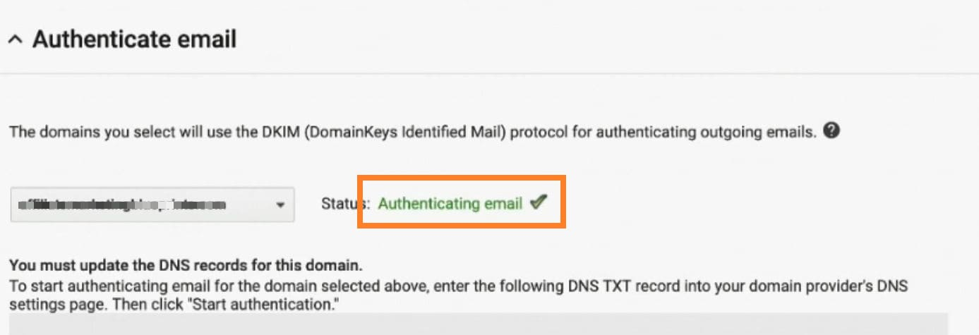 Authenticate DKIM G Suite