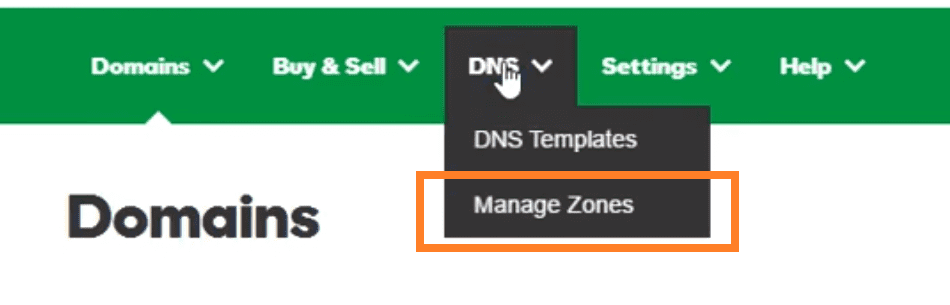 godaddy DNS zone management