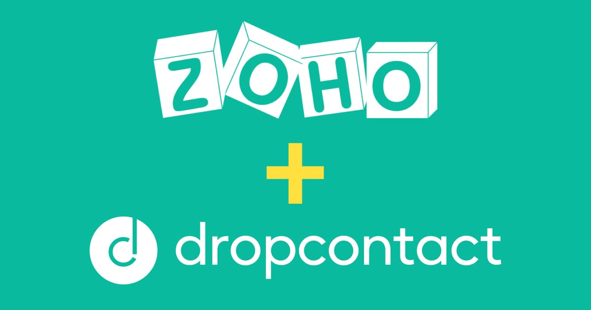 Dropcontact integrated to Zoho CRM via Zapier