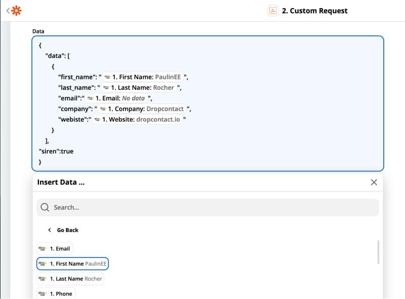 Zapier + Dropcontact + Zoho : Enrich your B2B data