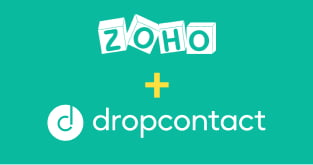 Dropcontact integrated to Zoho CRM via Zapier