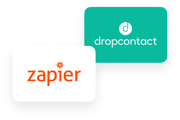 Dropcontact can be integrated into hundreds of applications thanks to Zapier
