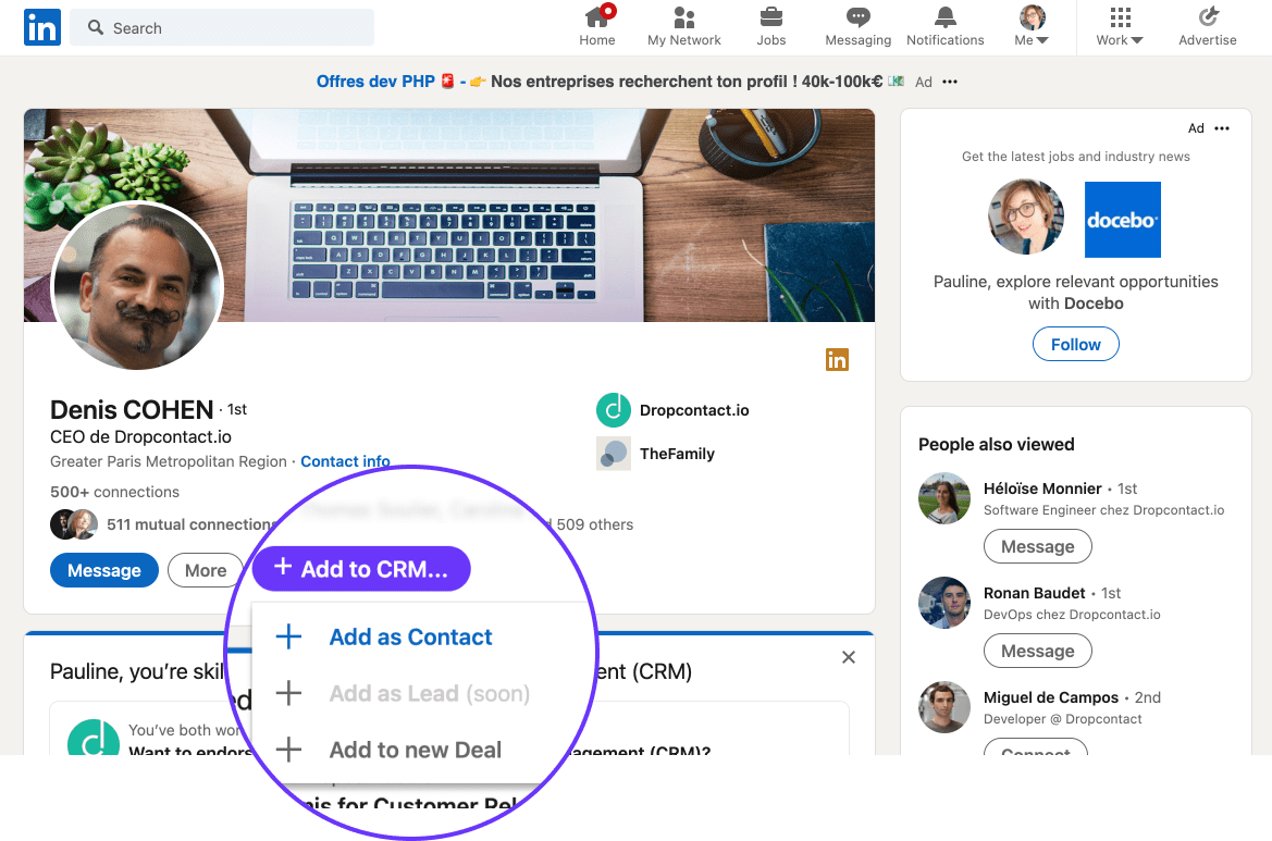Leadjet - Extension for LinkedIn scraper and CRM add-on