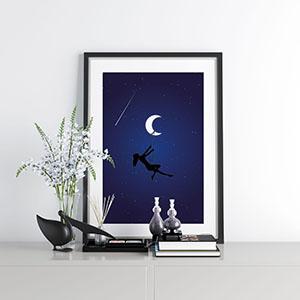 poster za zid plavo nebo