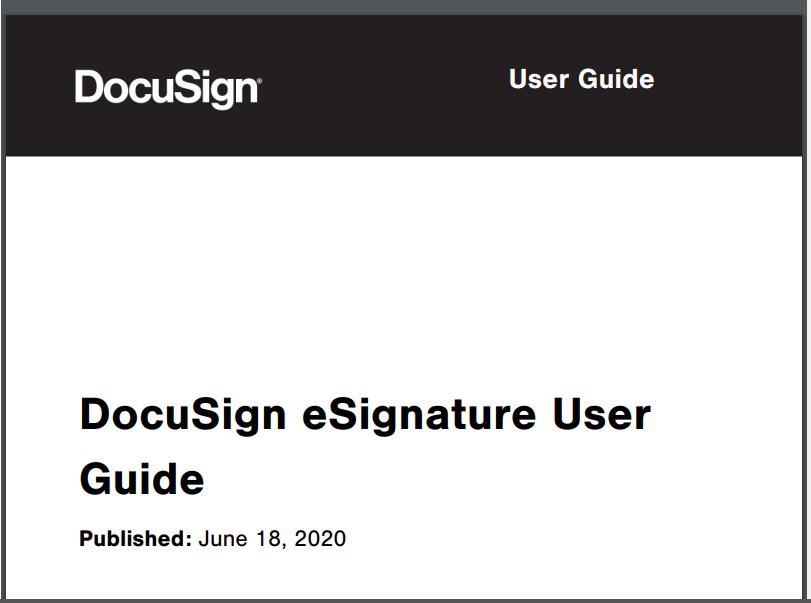 Docu Sign User Guide