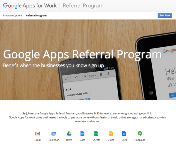 Google Apps Referral Program