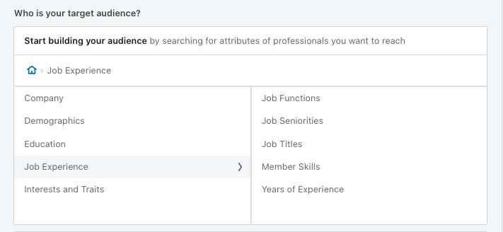 LinkedIn Targeting Attributes