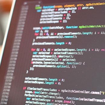 pantalla codigo desarrollo