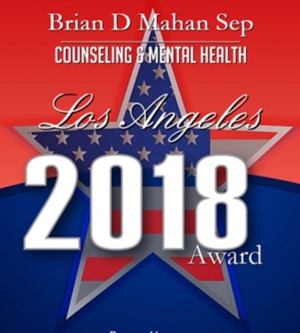 Brian Mahan 2018 counseling award