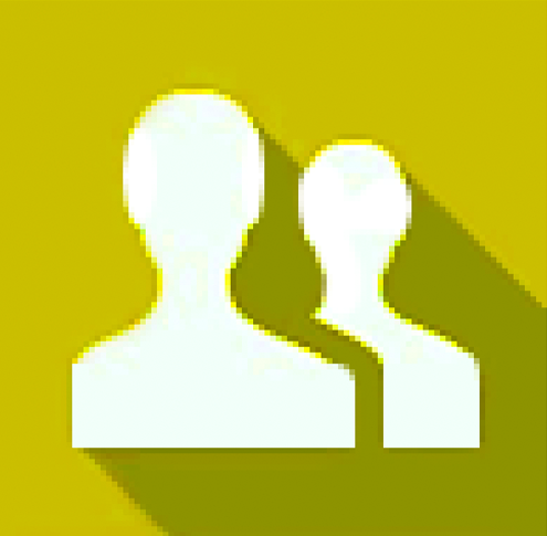 Two silhouettes of people