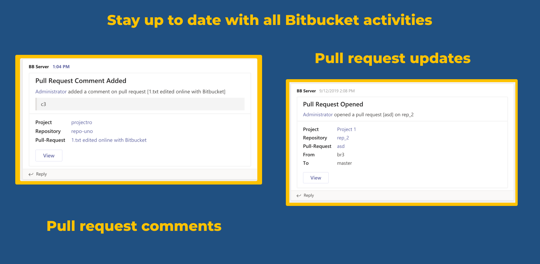 Stay up to date with all Bitbucket activities