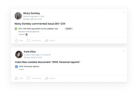 Activities feed helps you increases transparency