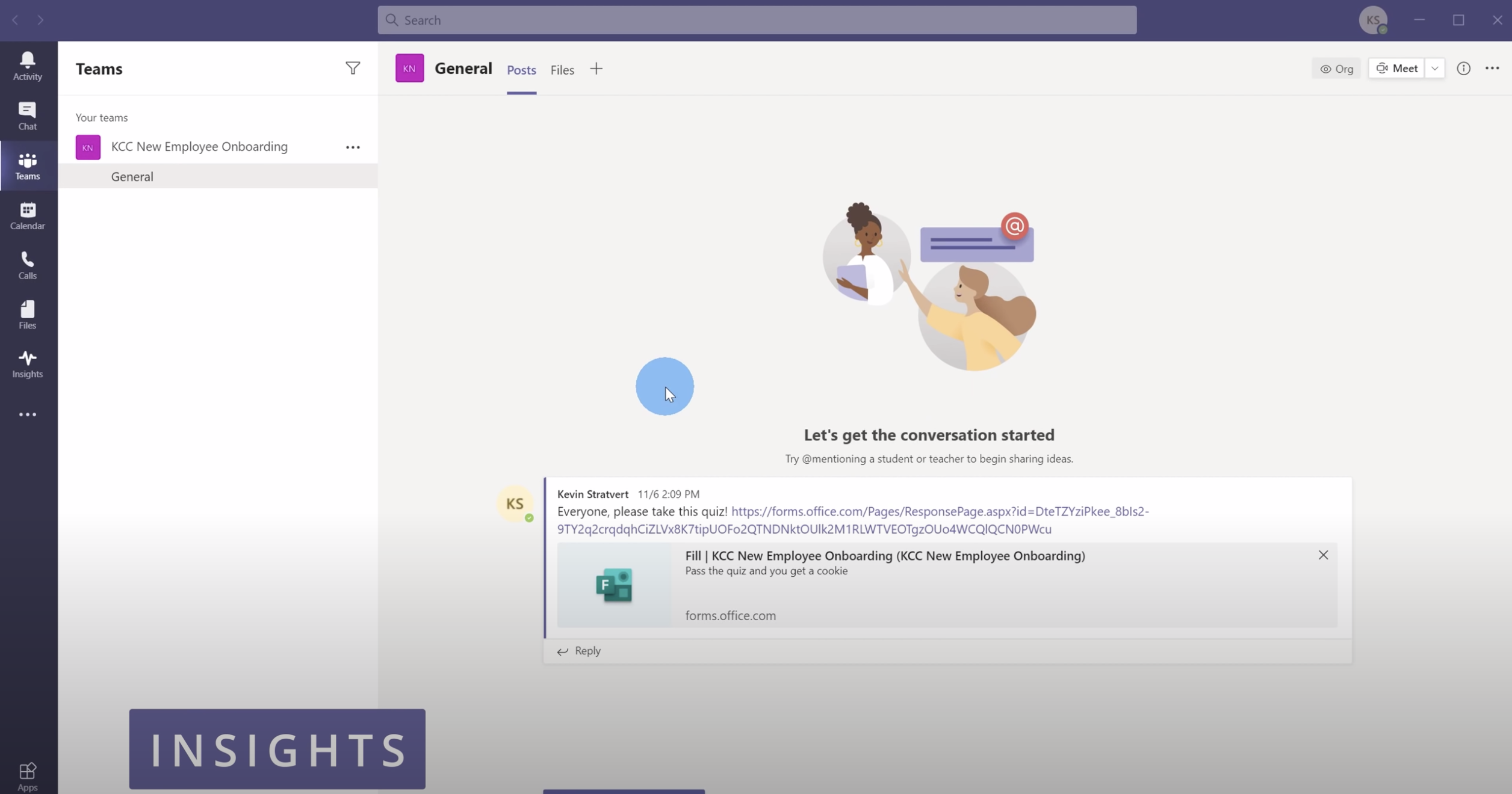 Microsoft Teams insights