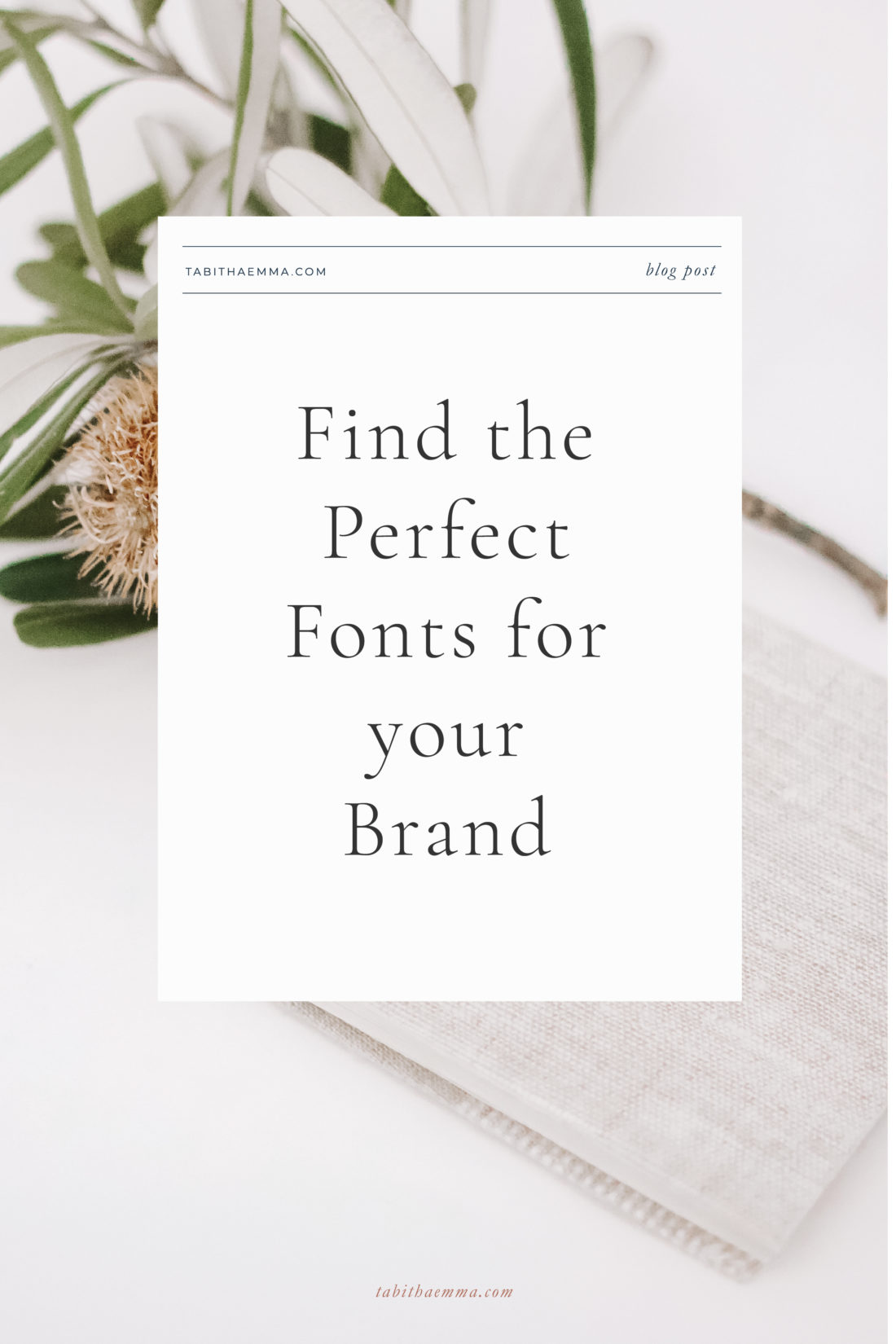 pair perfect brand fonts