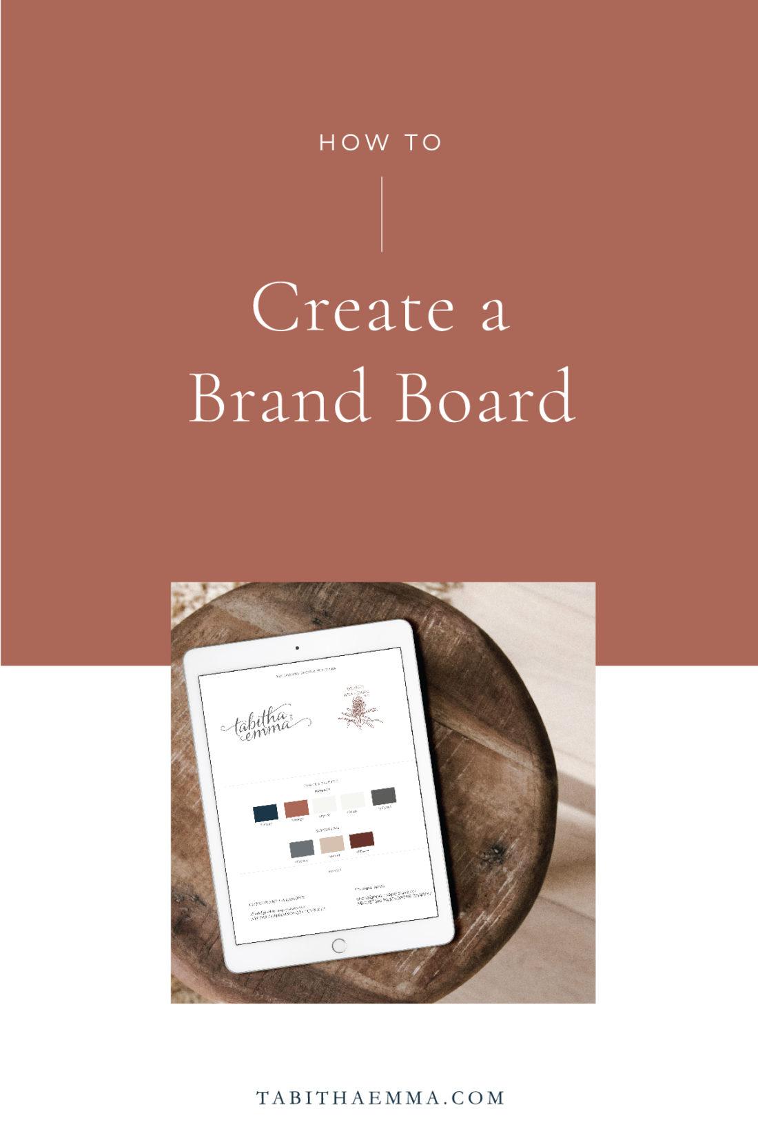 Create a Brand Board