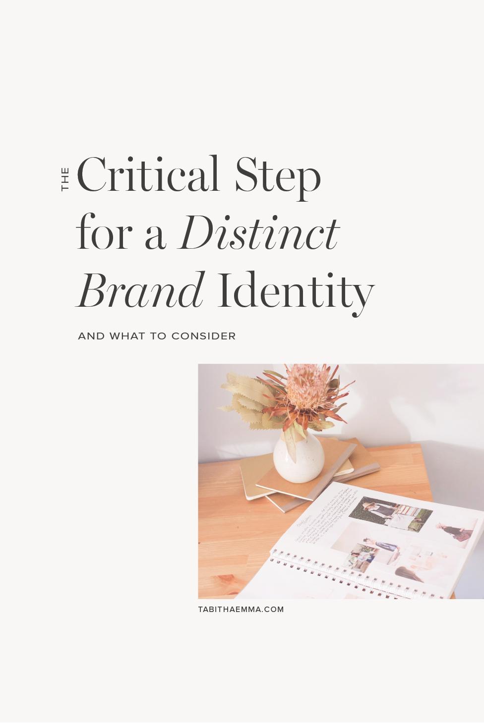 distinct brand style