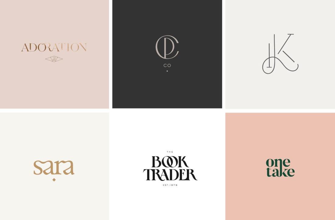 letter merging Logo design trend