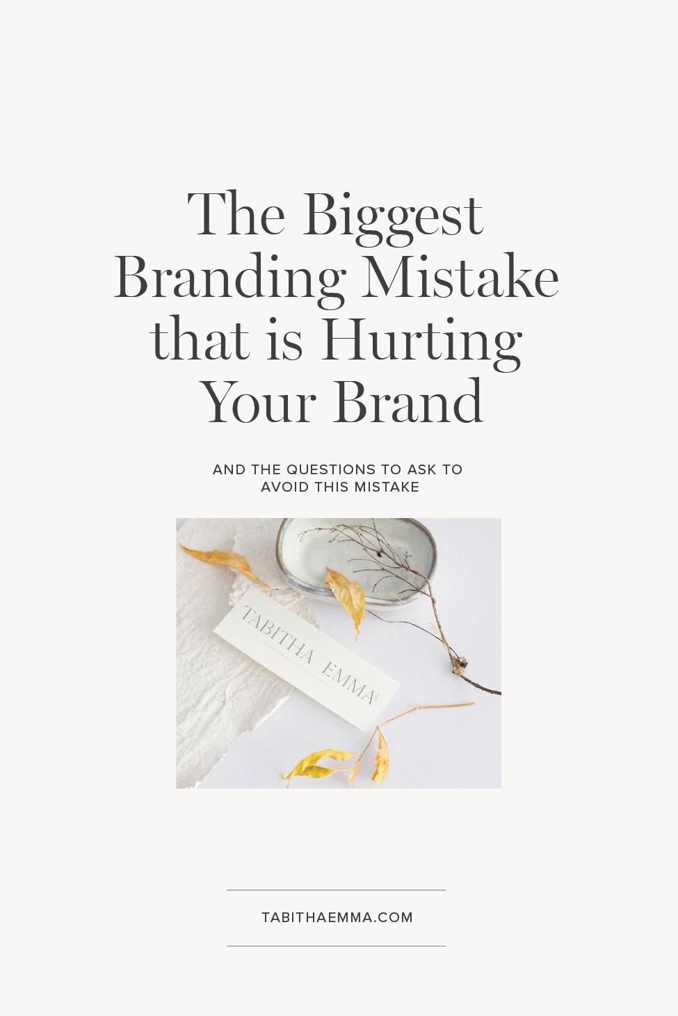 biggest branding mistake