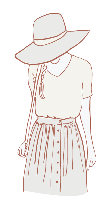 Illustration of a girl in a hat