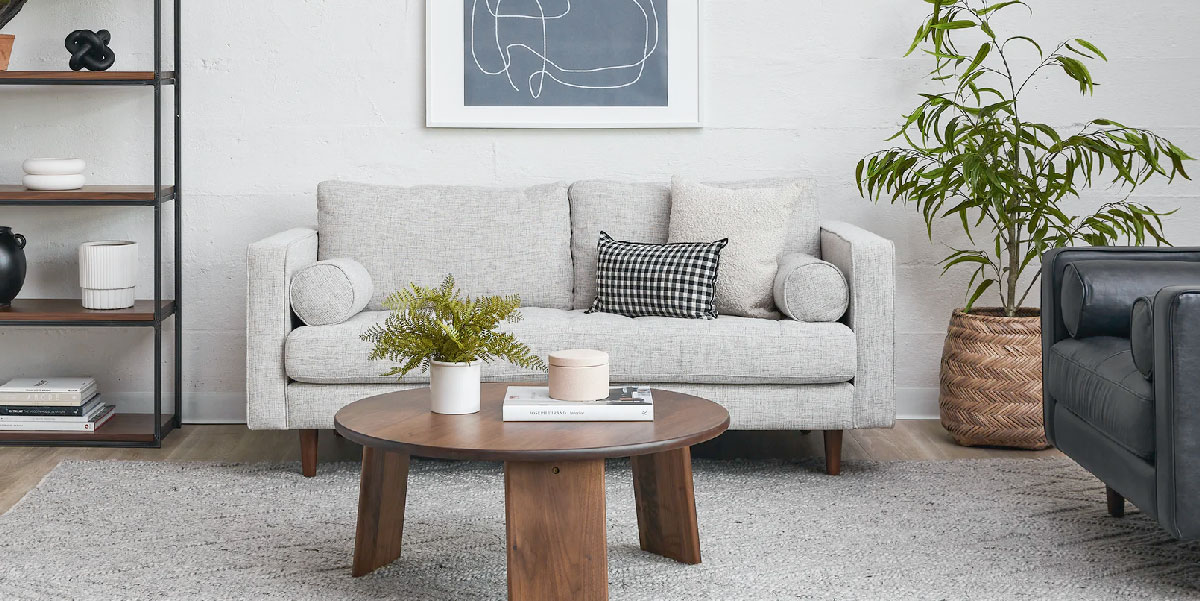 Sven Birch Ivory Sofa by Article