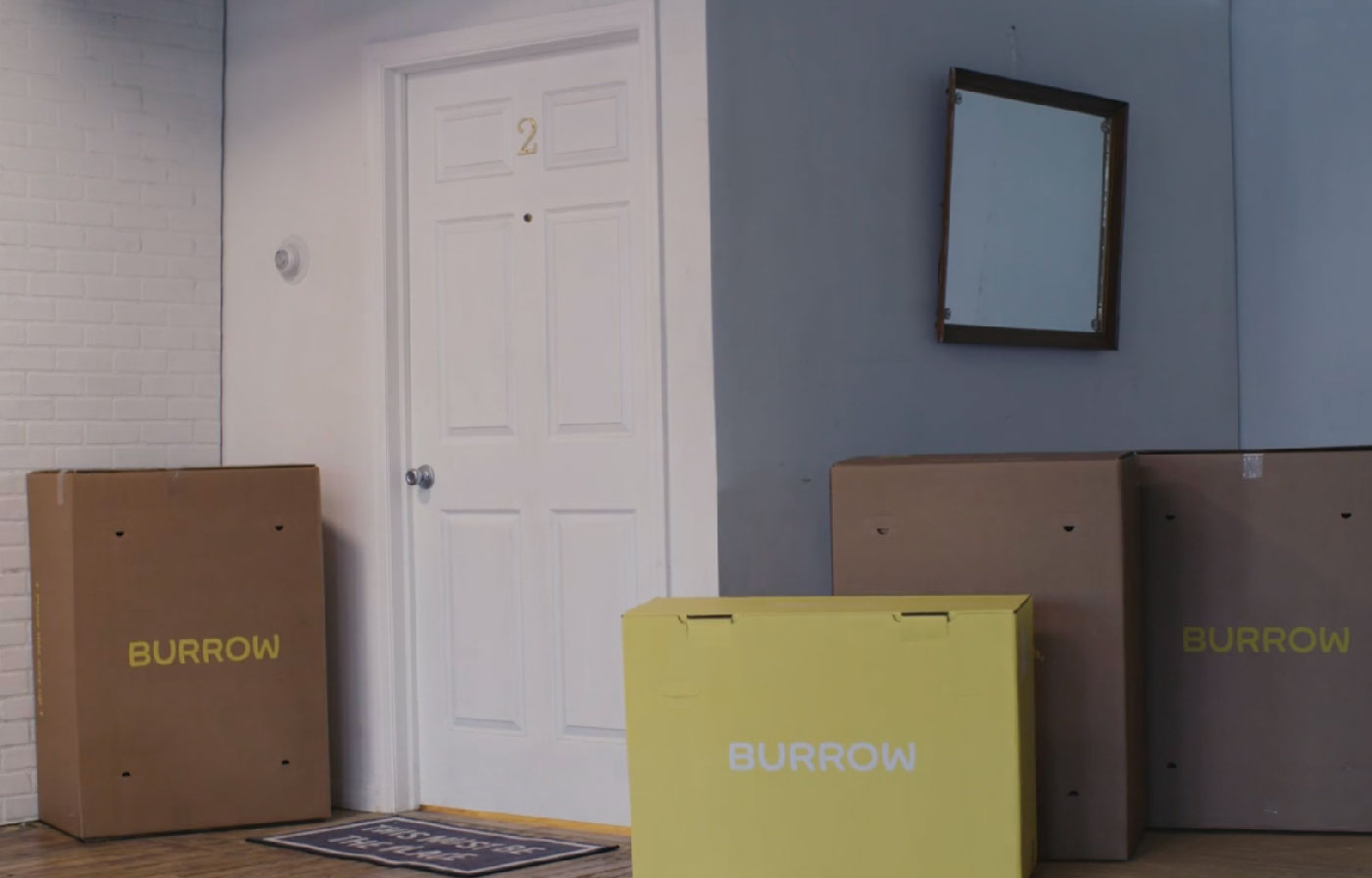 Burrow Sofa Delivery Boxes