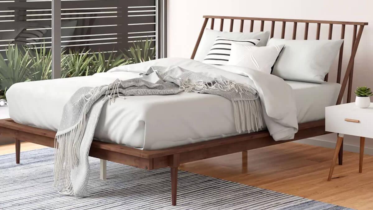 Dorinda Solid Wood Bed
