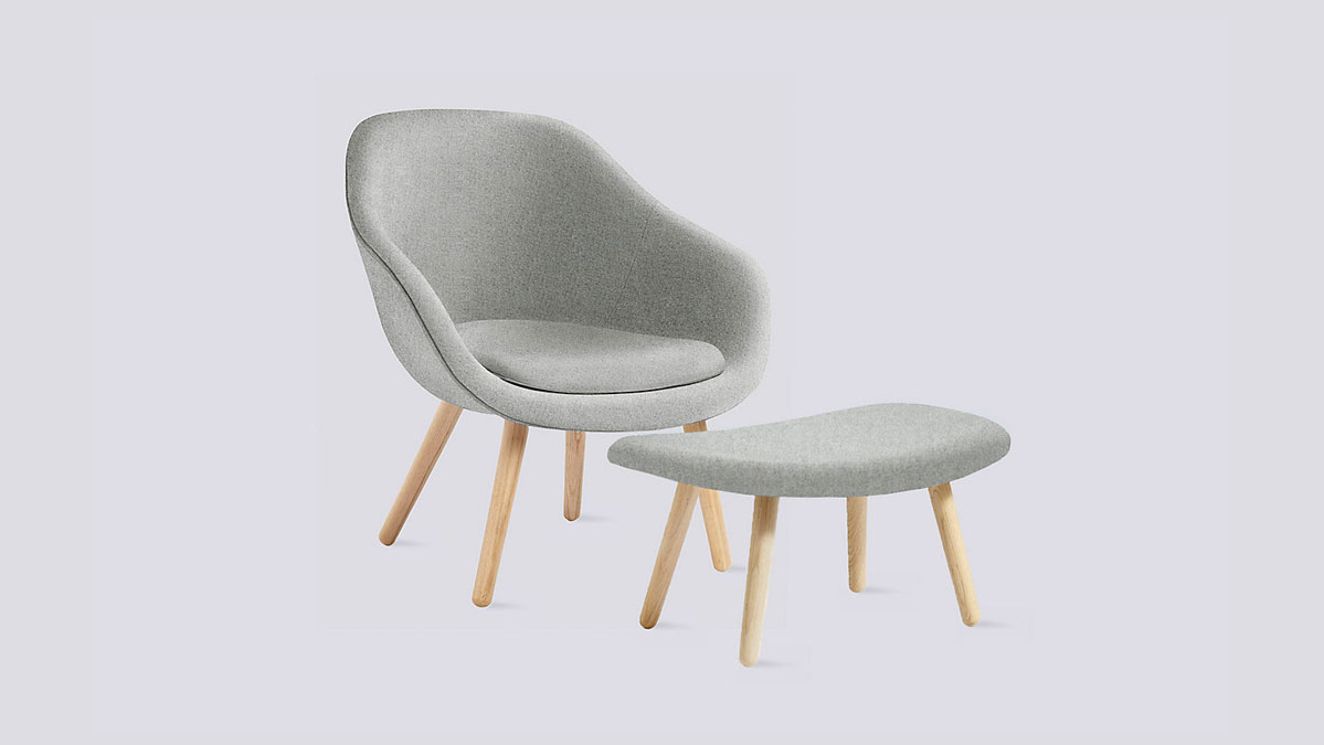 Hay About A Lounge Chair and Ottoman