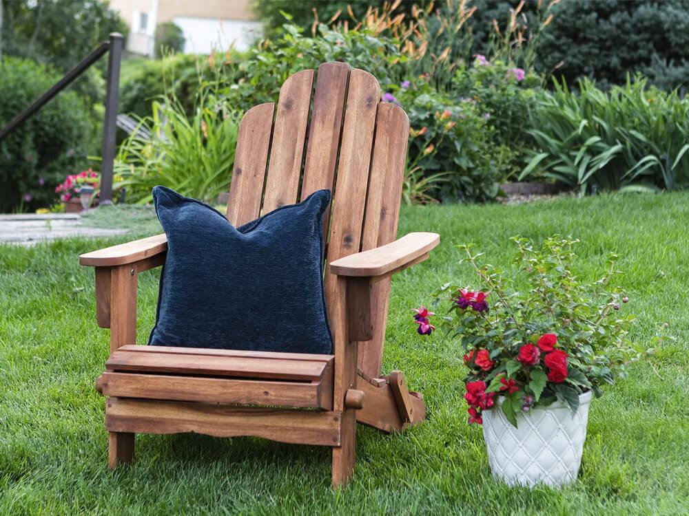Imane Wood Folding Adirondack Chair