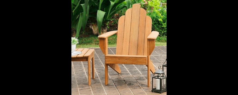 grandinroad all natural teak adirondack chair
