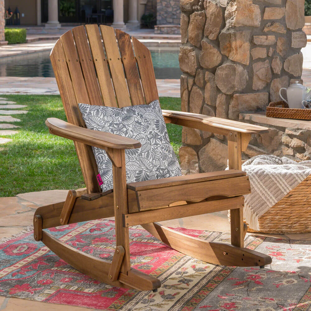 Malibu Outdoor Adirondack Rocking Chair