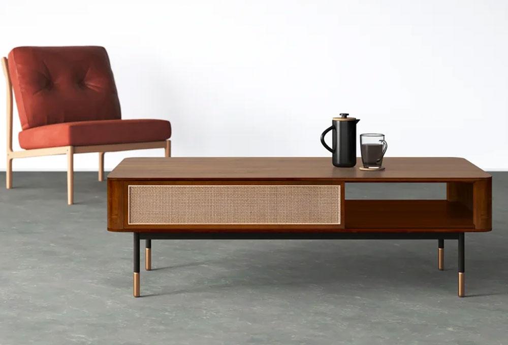 Ayres Solid Wood Storage Coffee Table