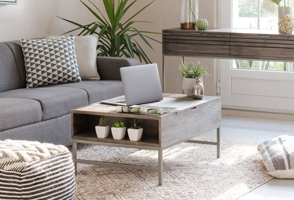 Clearfield Solid Wood Storage Lift-Top Coffee Table