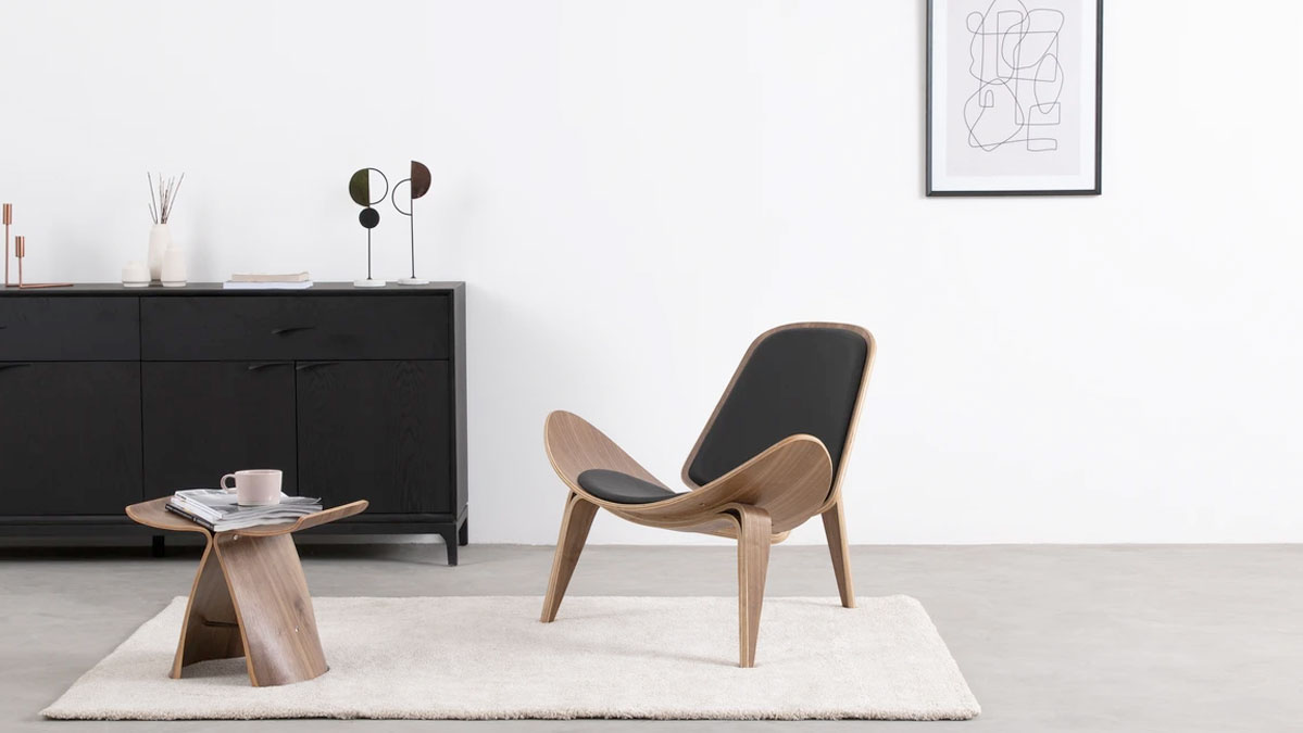 Shell Mid-Century Lounge Chair