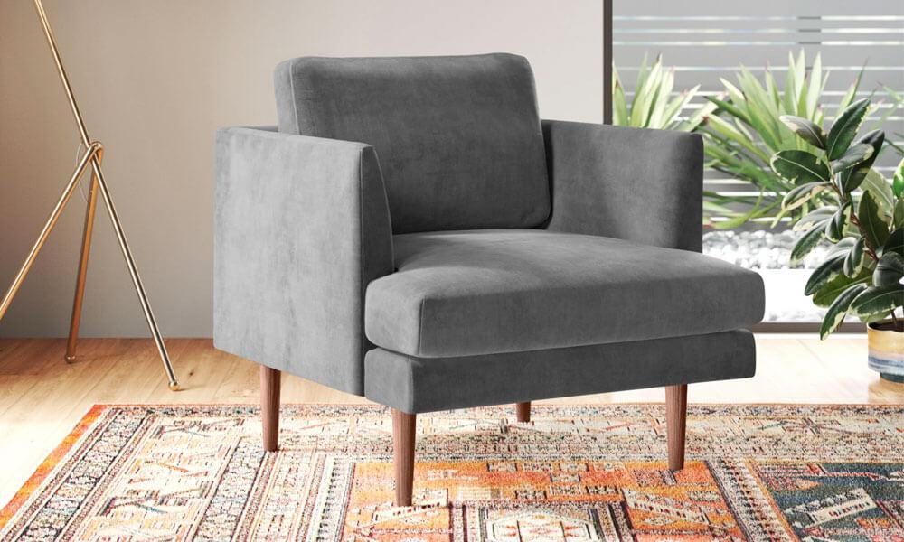 Jase Velvet Armchair