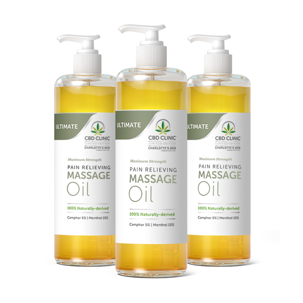 ULTIMATE (Maximum Strength) Pain Relieving Massage Oil- 3 pack