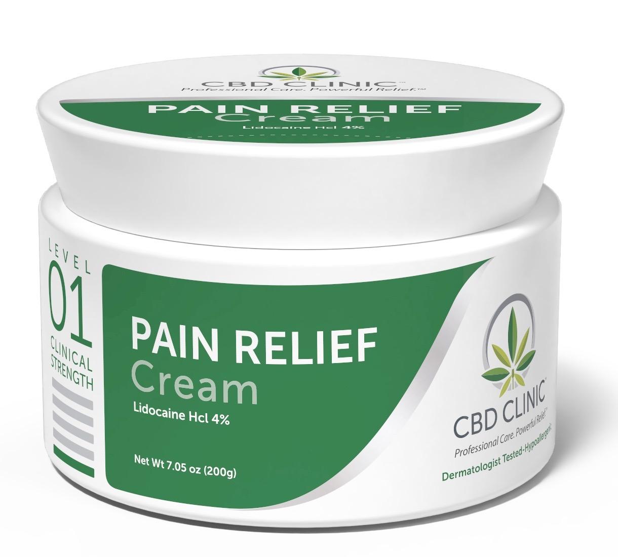 CBD Clinical Strength Pain Relief Cream- Level 1 200g jar