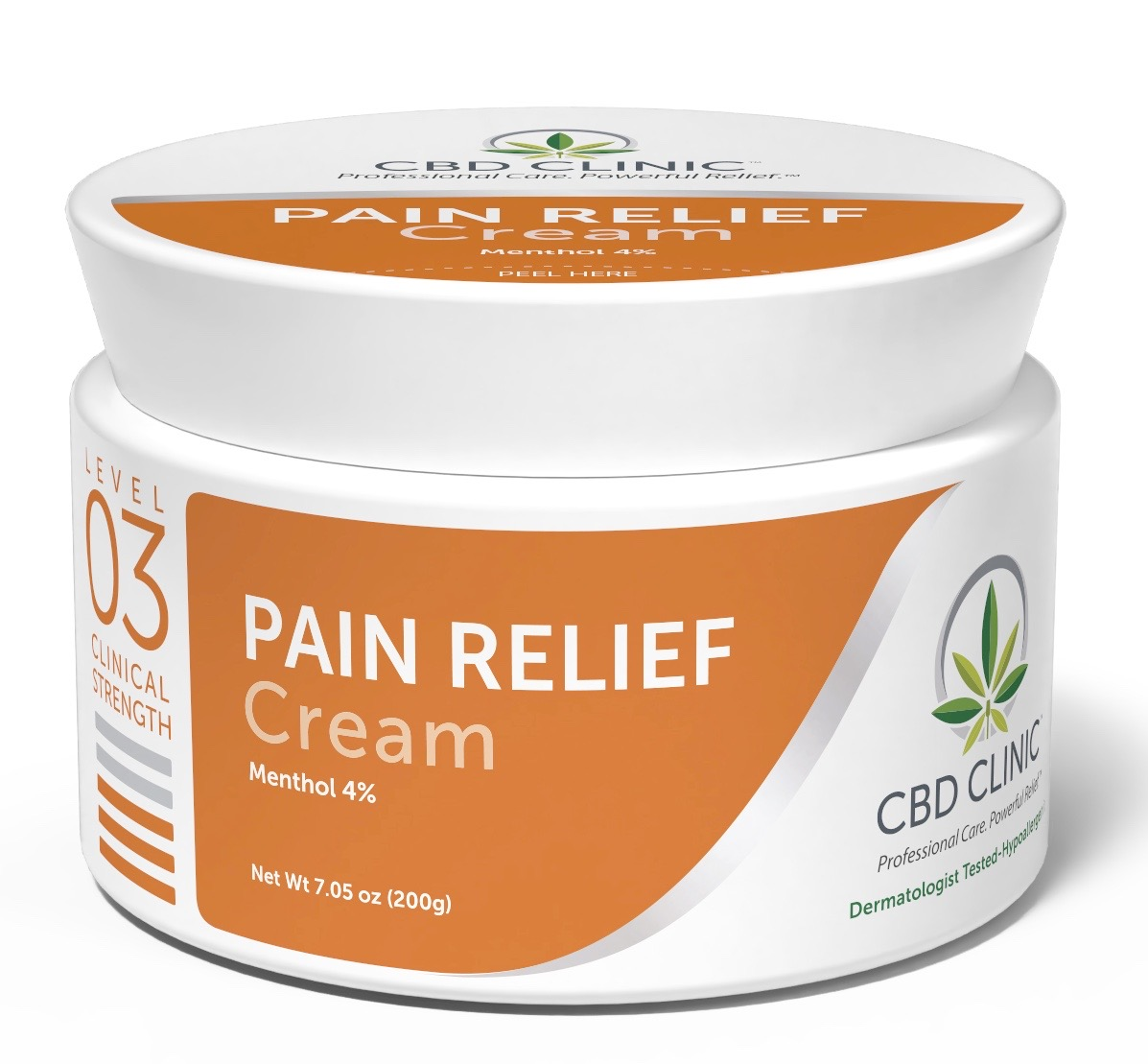 CBD Clinical Strength Pain Relief Cream- Level 3